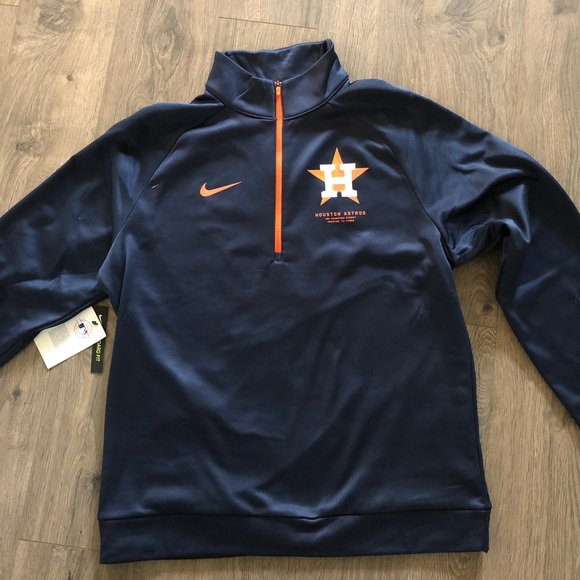 newest 24131 1cef7 Houston Astros Nike Therma Half Zip Pullover